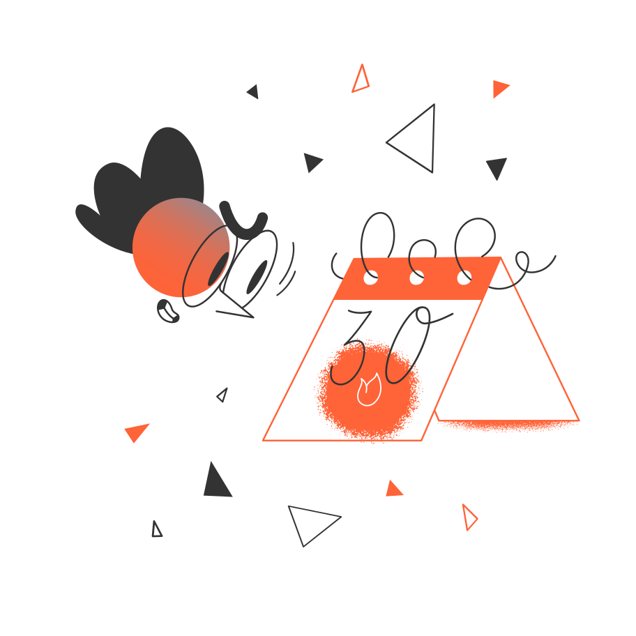 Ilustración de clipart de Fecha límite establecida en PNG, SVG