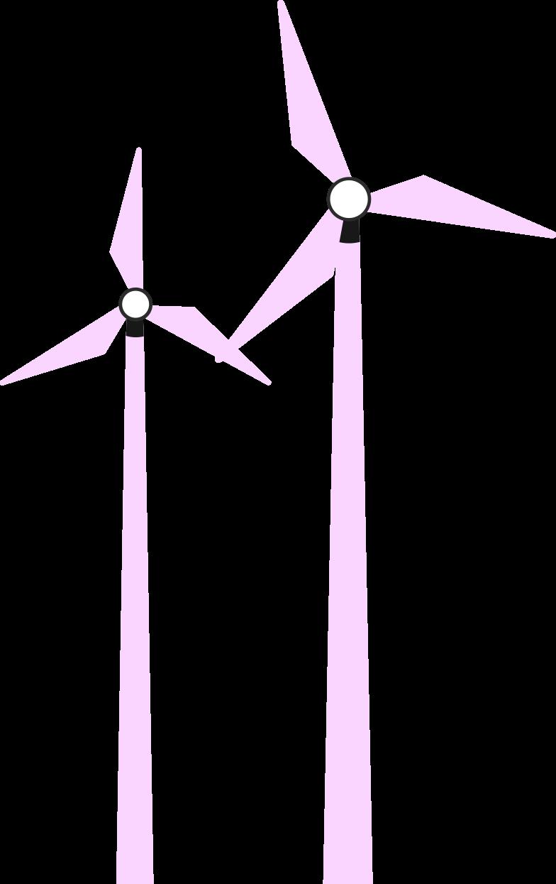 zwei windmühlen Clipart-Grafik als PNG, SVG