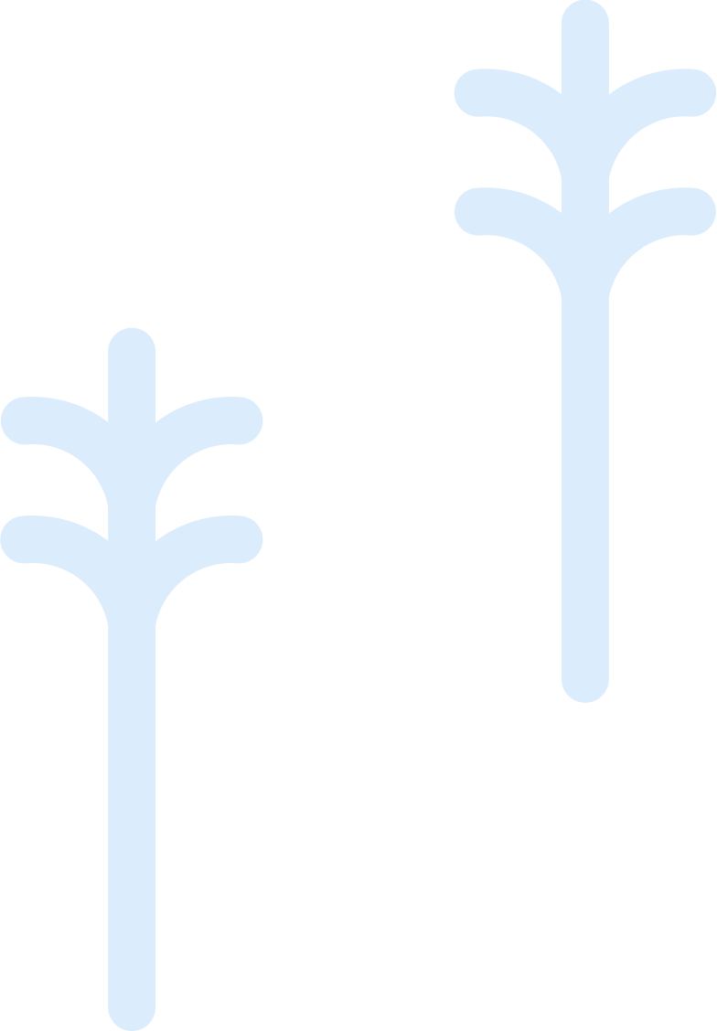 two tree Clipart illustration in PNG, SVG