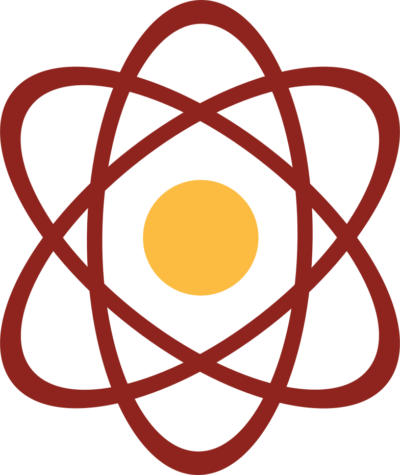 planetary model of the atom Clipart illustration in PNG, SVG