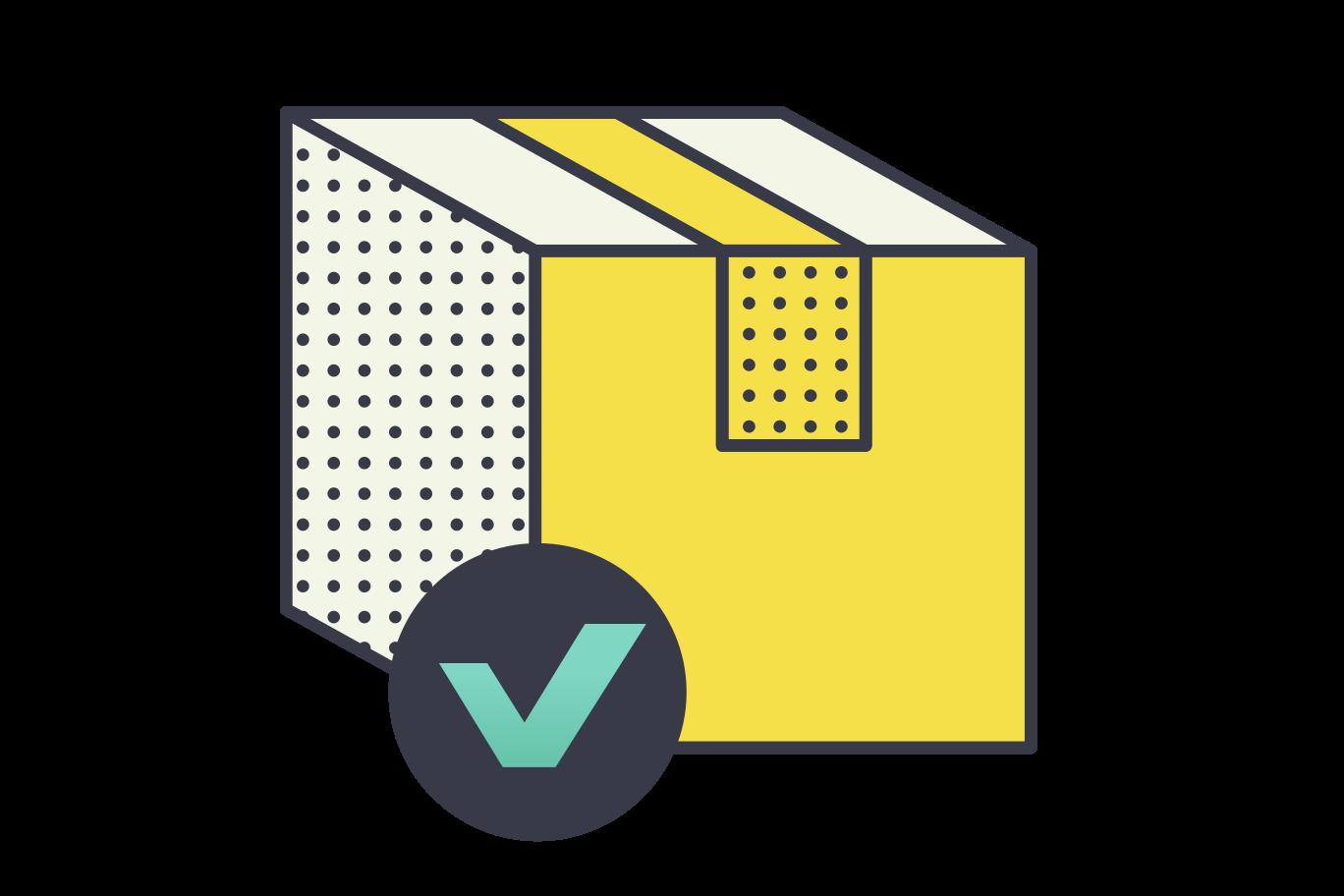 Package delivered Clipart illustration in PNG, SVG