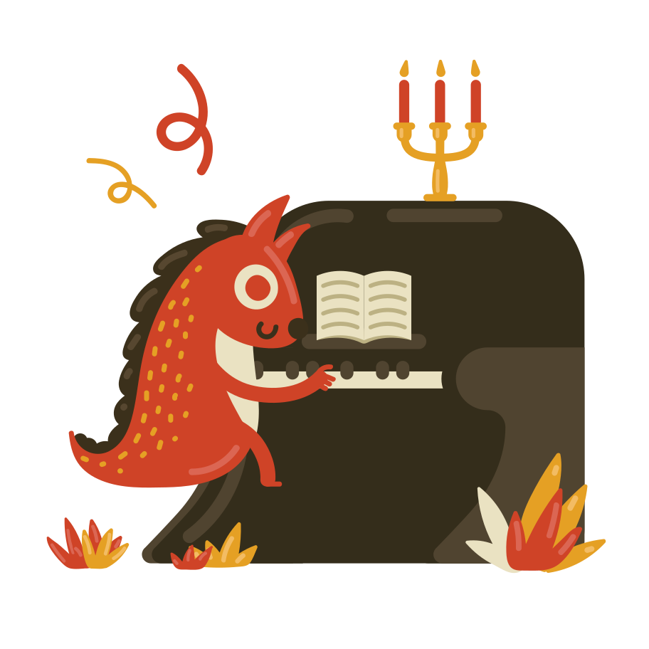 Play the piano Clipart illustration in PNG, SVG