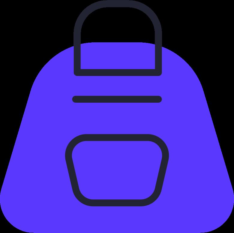 order completed  backpack Clipart illustration in PNG, SVG