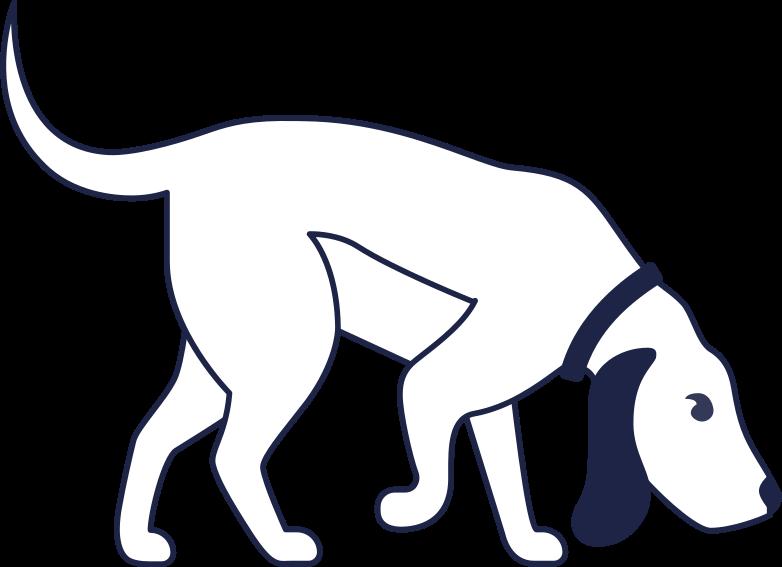 dog line Clipart-Grafik als PNG, SVG