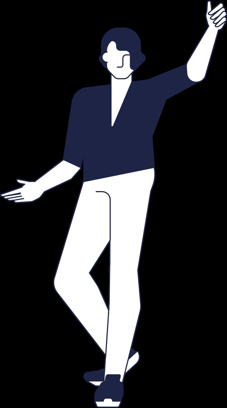 man welcomes line Clipart illustration in PNG, SVG