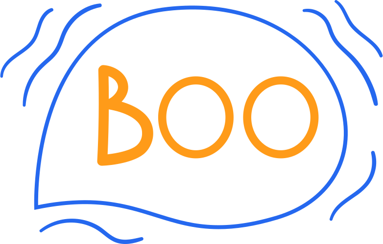 boo line Clipart illustration in PNG, SVG