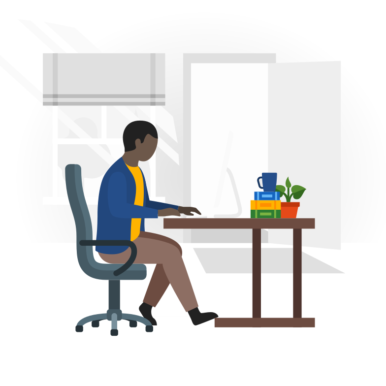 Stay at home during the coronavirus epidemic. Work from home Clipart illustration in PNG, SVG