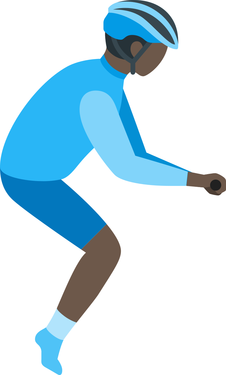 man cyclist Clipart illustration in PNG, SVG