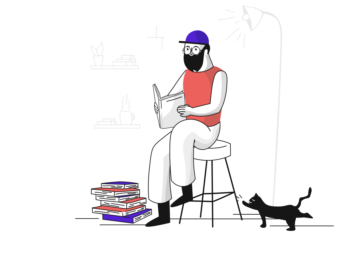 Study from books Clipart illustration in PNG, SVG