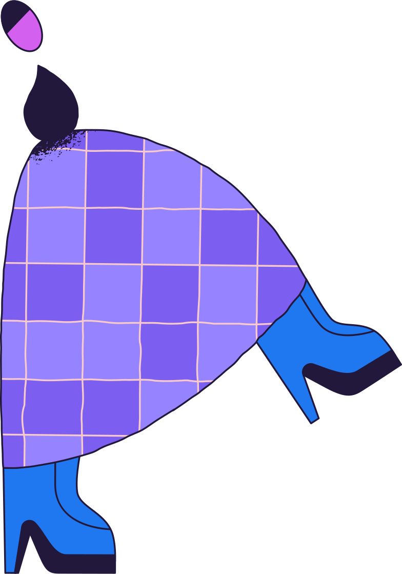 person-in-skirt- Clipart illustration in PNG, SVG