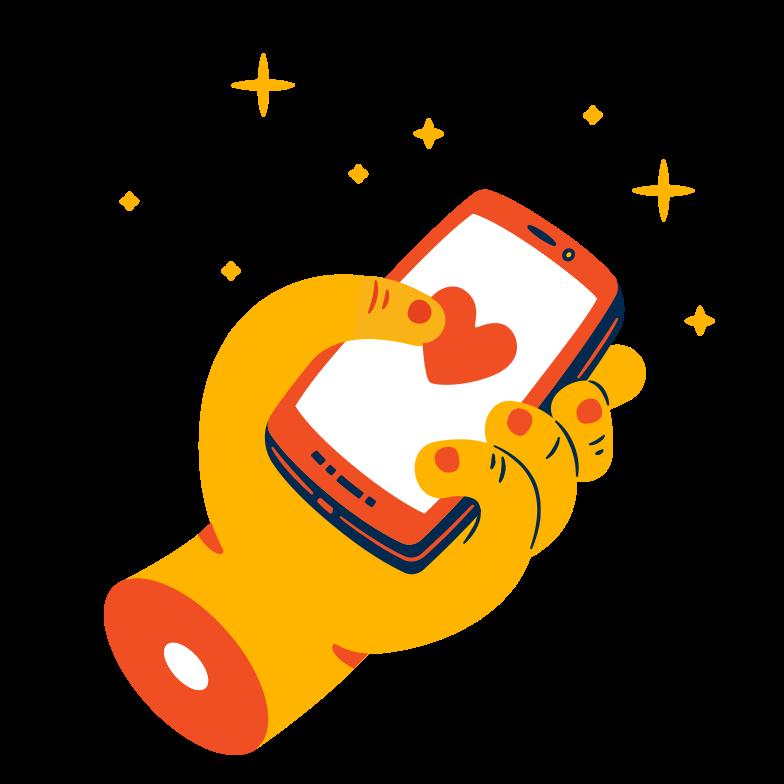 Send love message Clipart illustration in PNG, SVG