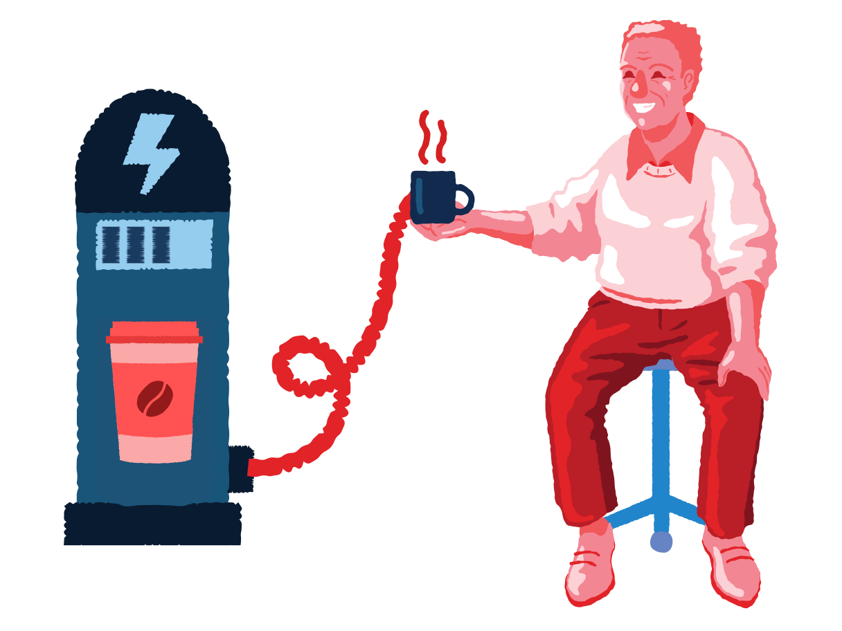 Coffee energy Clipart illustration in PNG, SVG