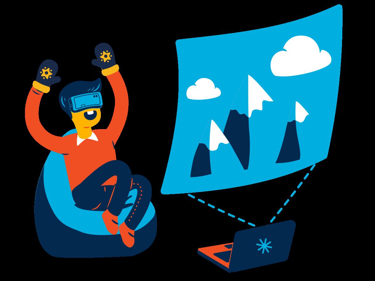 VR journey Clipart illustration in PNG, SVG