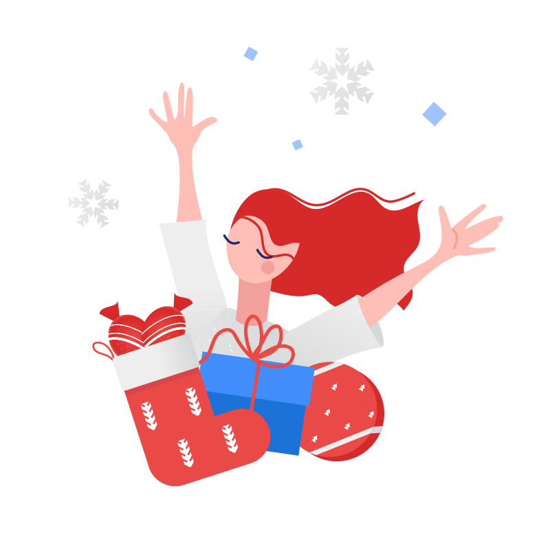 style Getting Christmas presents Vector images in PNG and SVG | Icons8 Illustrations