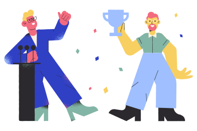 style Winning a prize images in PNG and SVG | Icons8 Illustrations