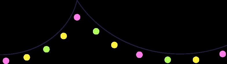 weihnachtsbeleuchtung Clipart-Grafik als PNG, SVG