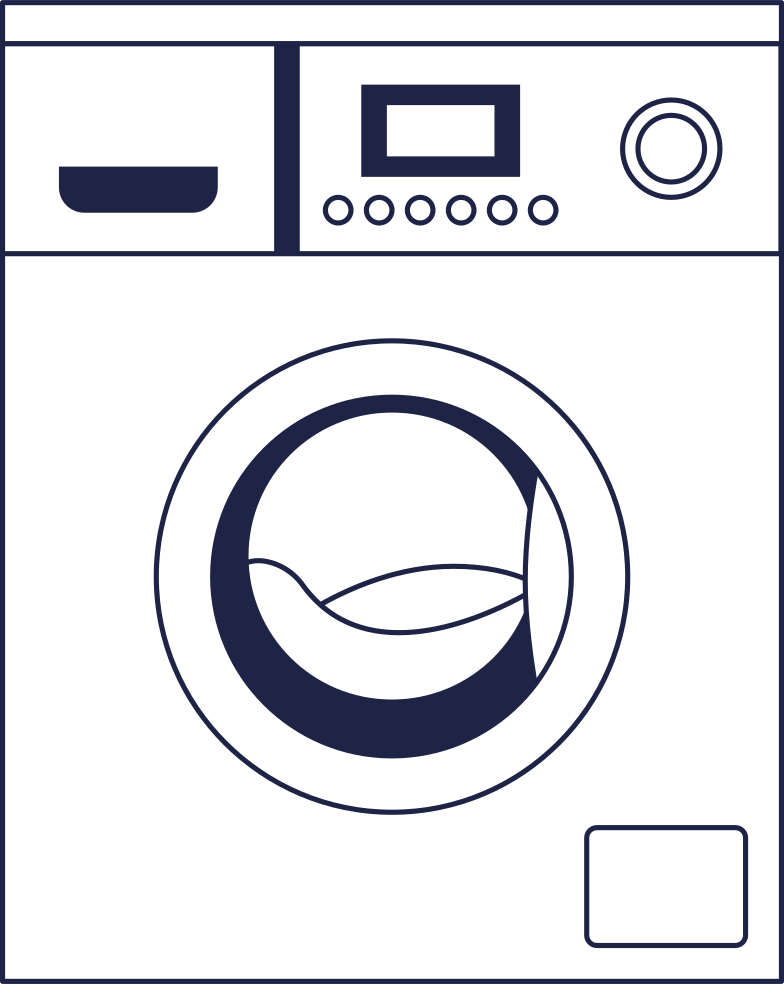 come back later  washer 2 line Clipart illustration in PNG, SVG