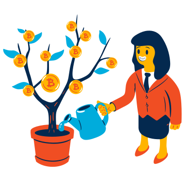 style Investing in Bitcoin images in PNG and SVG | Icons8 Illustrations