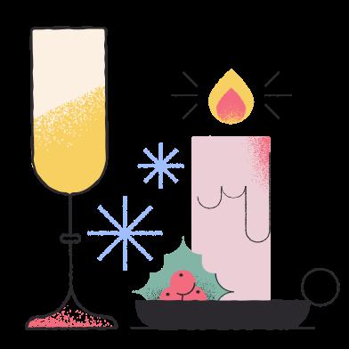 Иллюстрация Рождественская вечеринка в стиле  в PNG и SVG | Icons8 Иллюстрации