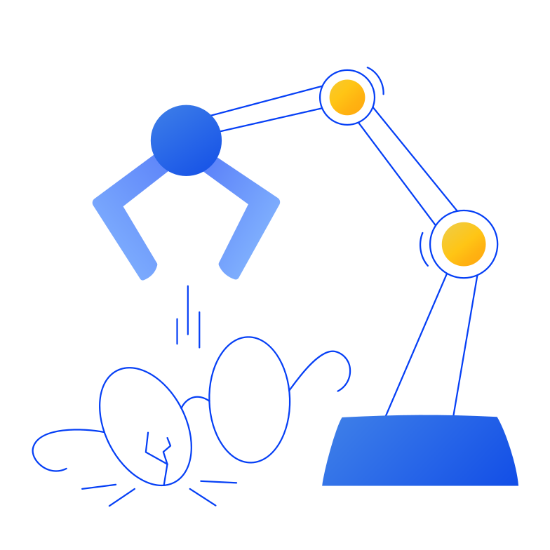 Robotic arm Clipart illustration in PNG, SVG