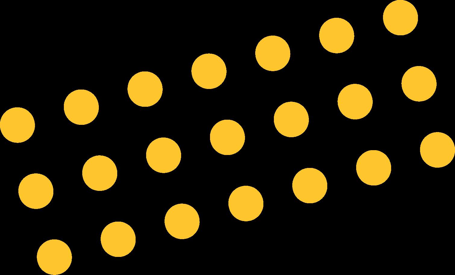 Ilustración de clipart de puntos amarillos en PNG, SVG