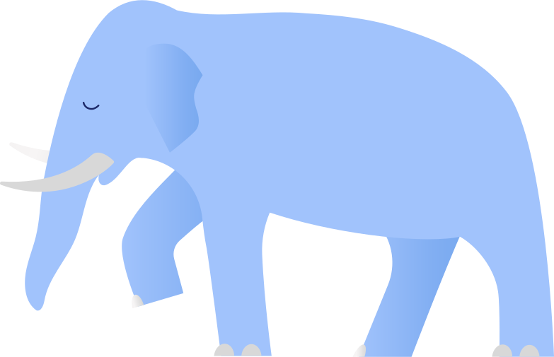 style blue elephant Vector images in PNG and SVG | Icons8 Illustrations