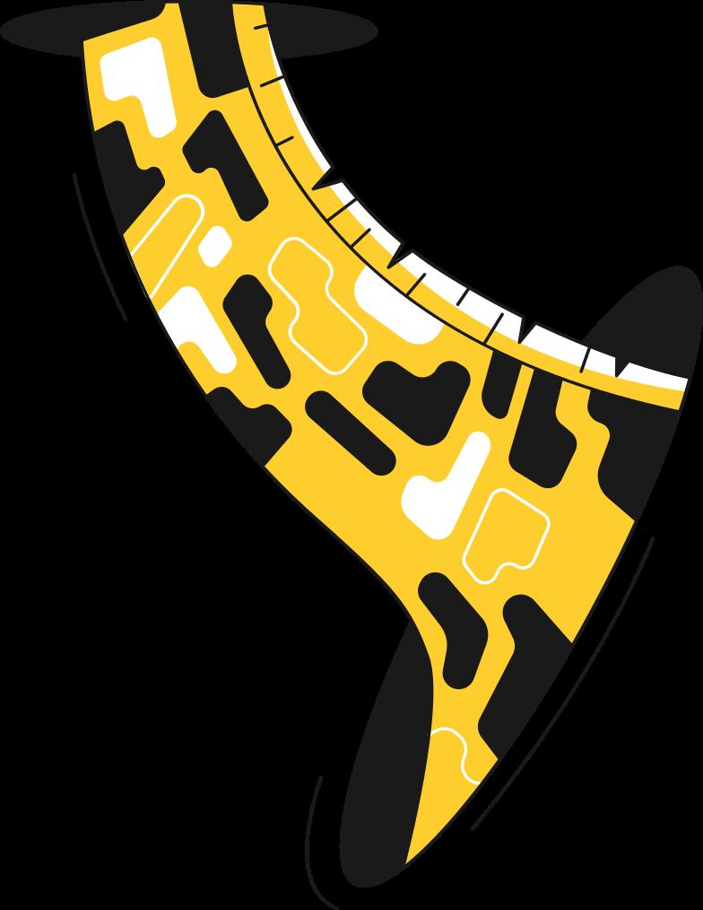 giraffe neck Clipart illustration in PNG, SVG
