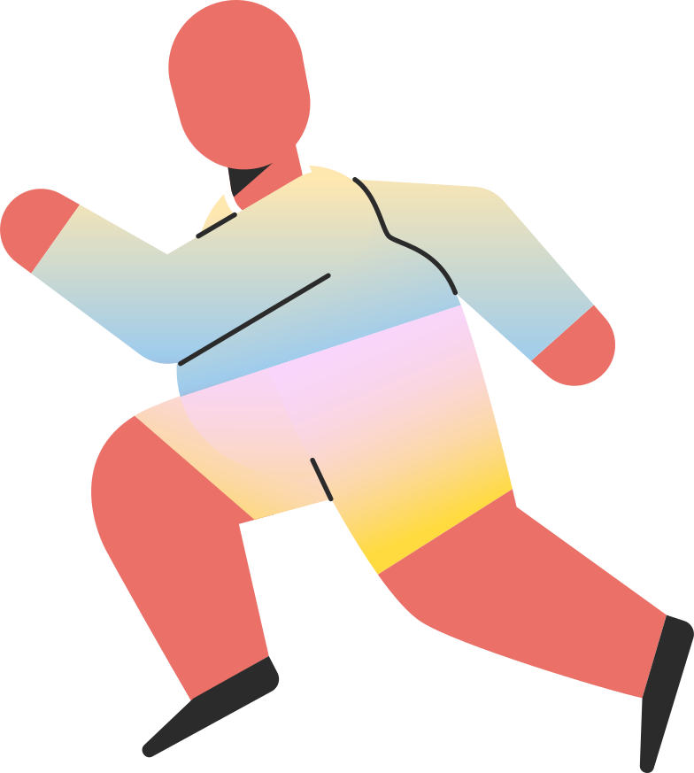 chubby child running Clipart illustration in PNG, SVG