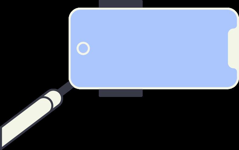 selfie stick Clipart illustration in PNG, SVG