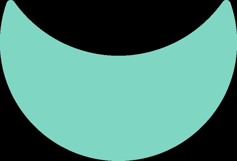 crescent shape Clipart illustration in PNG, SVG