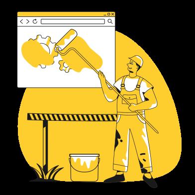 Иллюстрация Страница в разработке в стиле  в PNG и SVG | Icons8 Иллюстрации