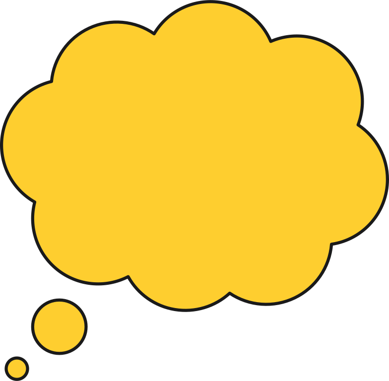 thought bubble l Clipart illustration in PNG, SVG