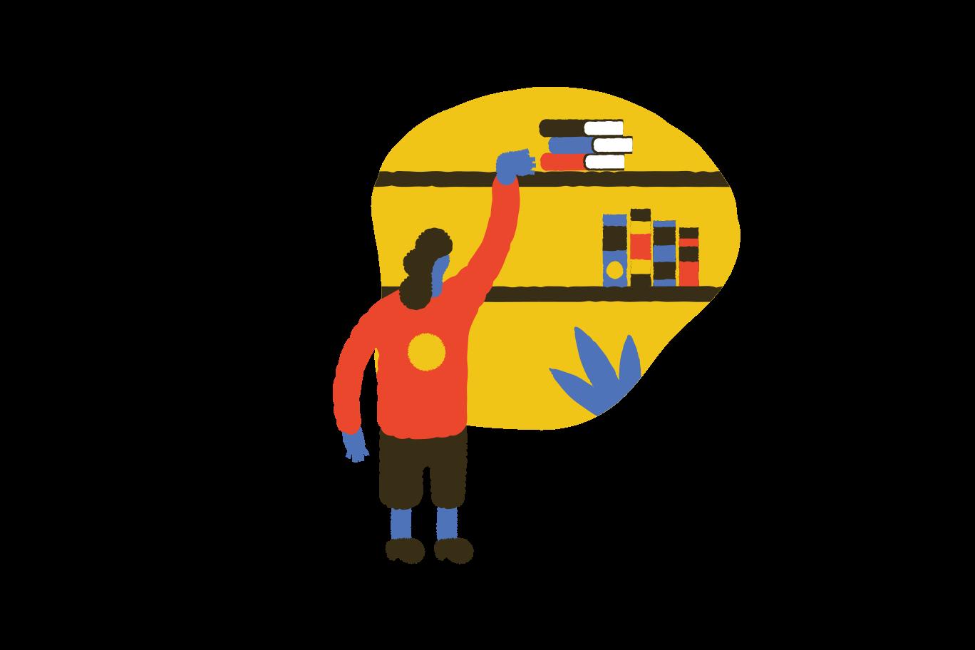 Book lover  Clipart illustration in PNG, SVG