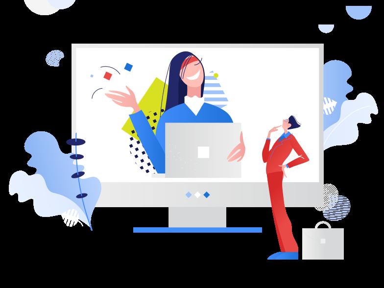 Online management Clipart illustration in PNG, SVG