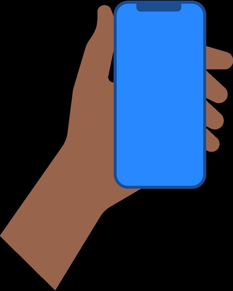 Immagine Vettoriale mano con lo smartphone in PNG e SVG in stile  | Illustrazioni Icons8