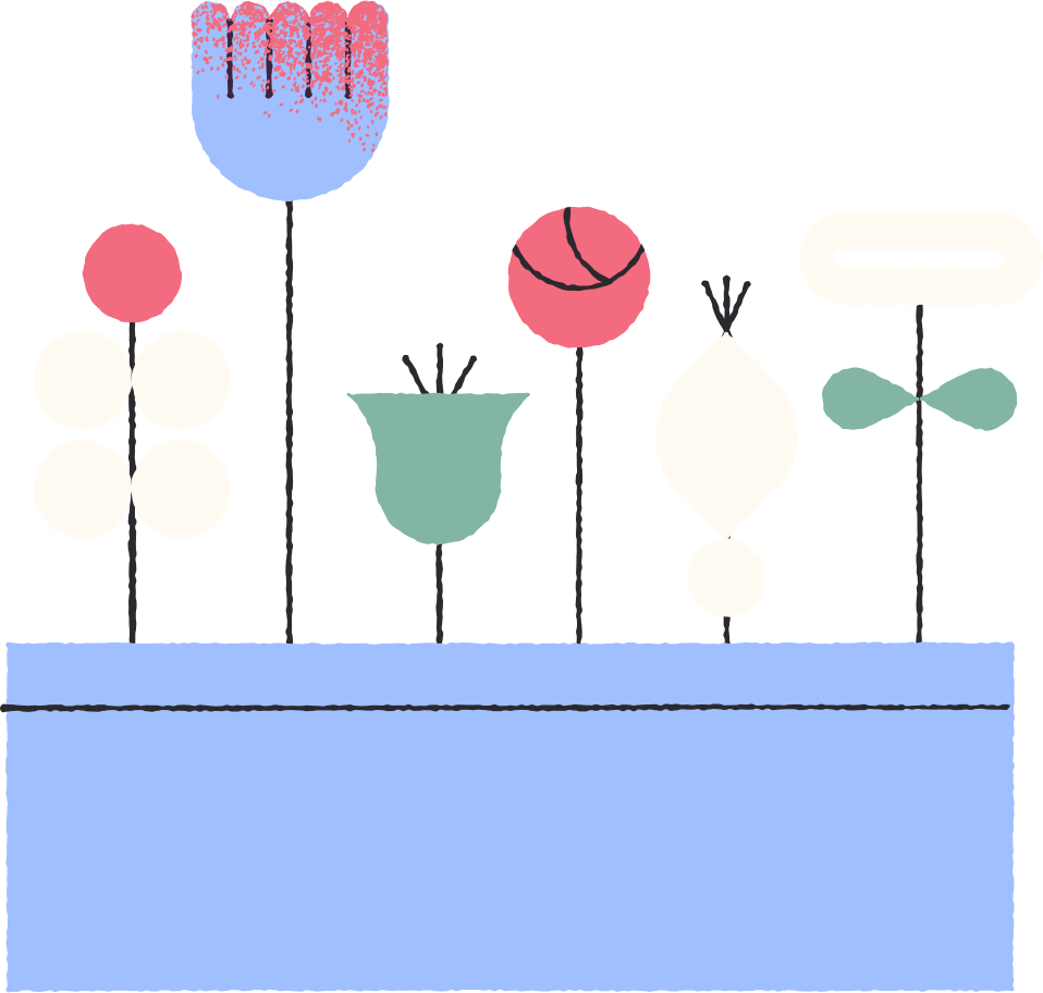 flowers in pot Clipart illustration in PNG, SVG