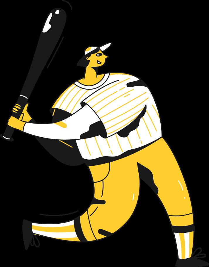 baseball player Clipart illustration in PNG, SVG