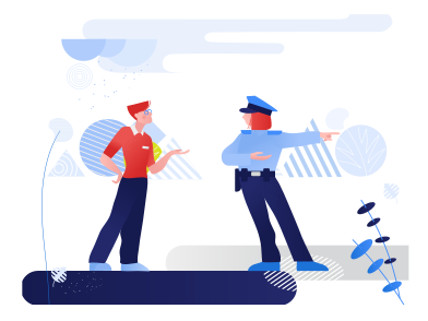 style Conversation with the police images in PNG and SVG | Icons8 Illustrations