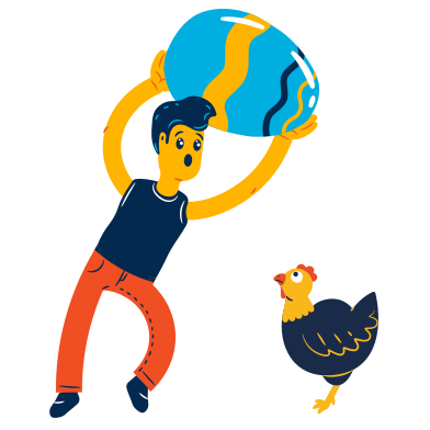 style Boy found a huge egg images in PNG and SVG | Icons8 Illustrations