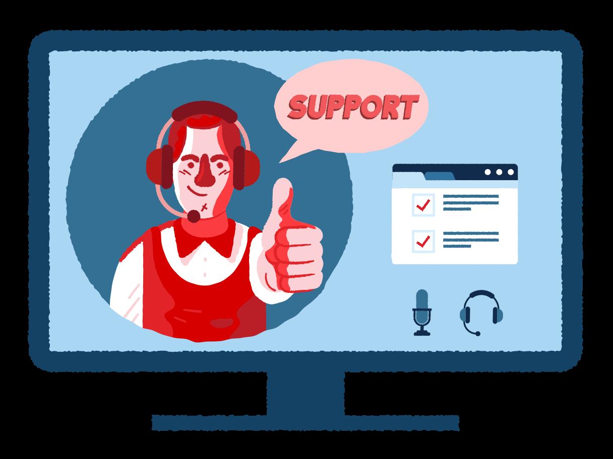 Ilustración de clipart de Apoyo en PNG, SVG