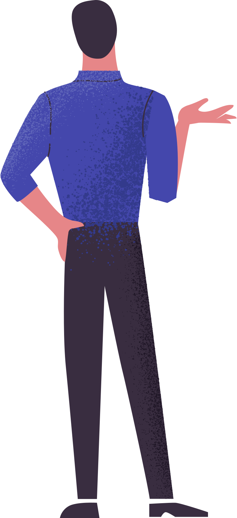 man from behind Clipart illustration in PNG, SVG