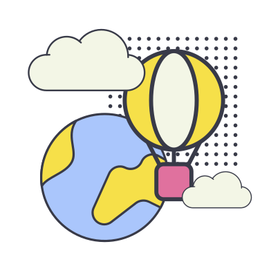 style Around the world in a air balloon images in PNG and SVG | Icons8 Illustrations