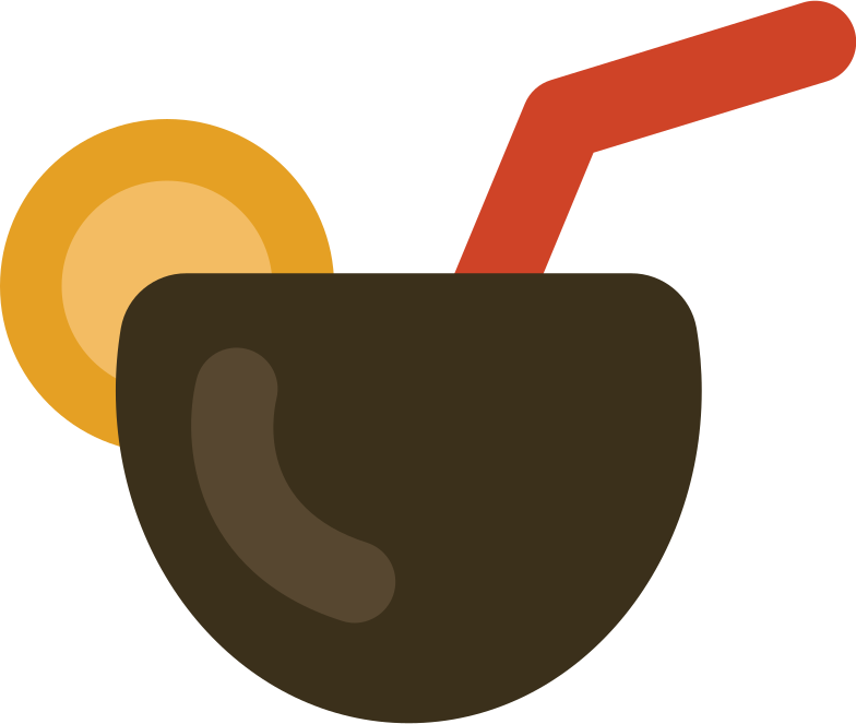 beach cocktail Clipart illustration in PNG, SVG