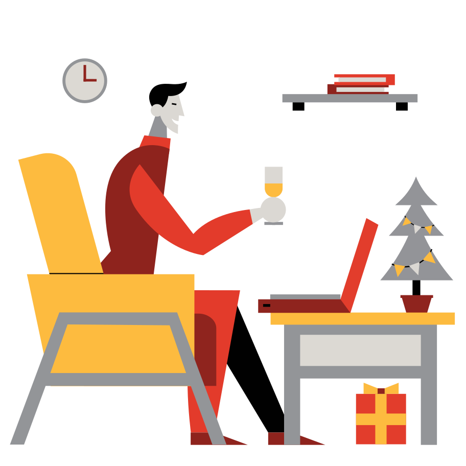 Lonely christmas Clipart illustration in PNG, SVG