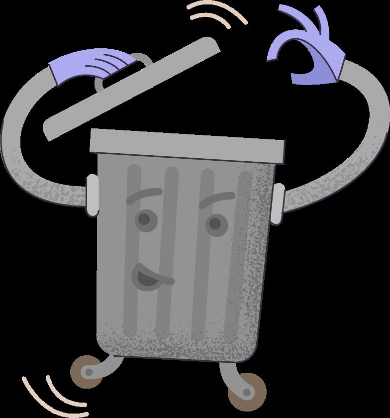 trash-bin Clipart illustration in PNG, SVG