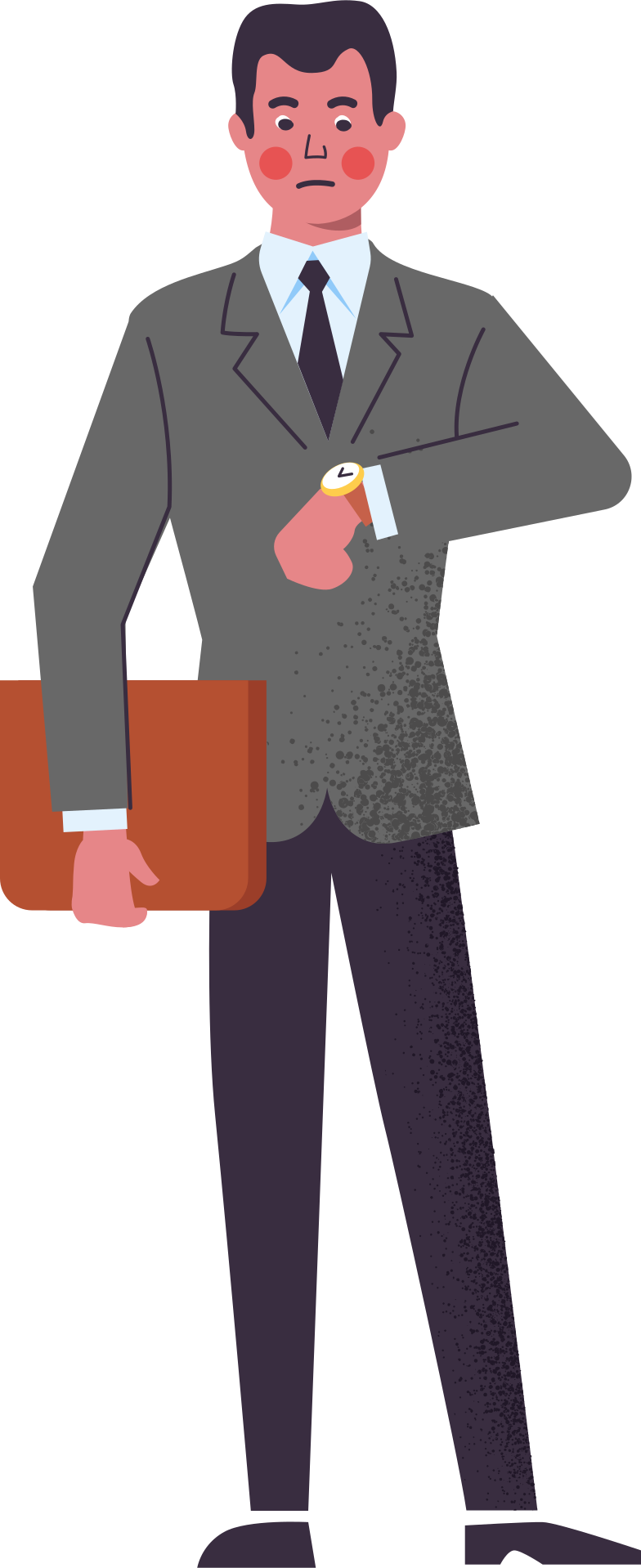 man-in-suit-with-folder Clipart illustration in PNG, SVG