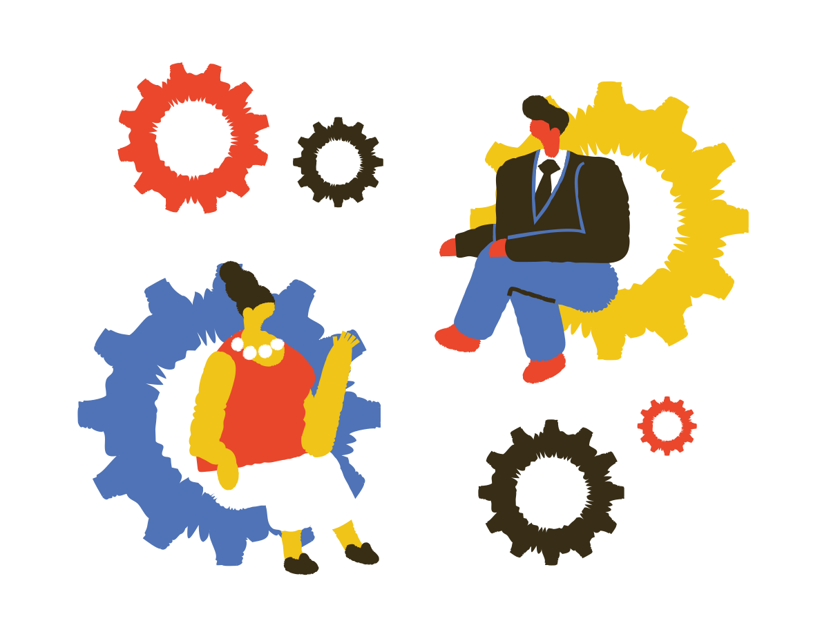 Business conversation Clipart illustration in PNG, SVG