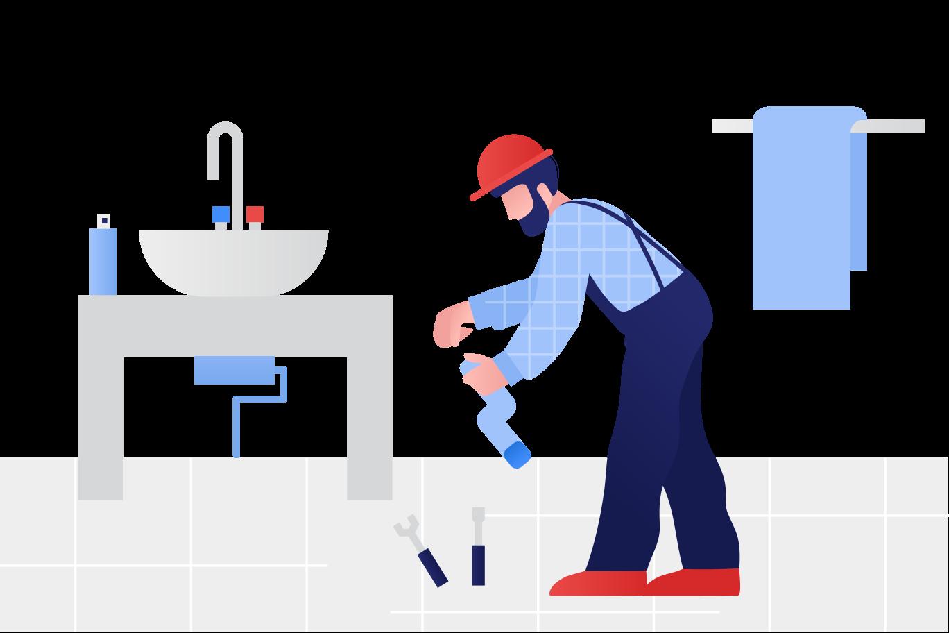 Plumber Clipart illustration in PNG, SVG