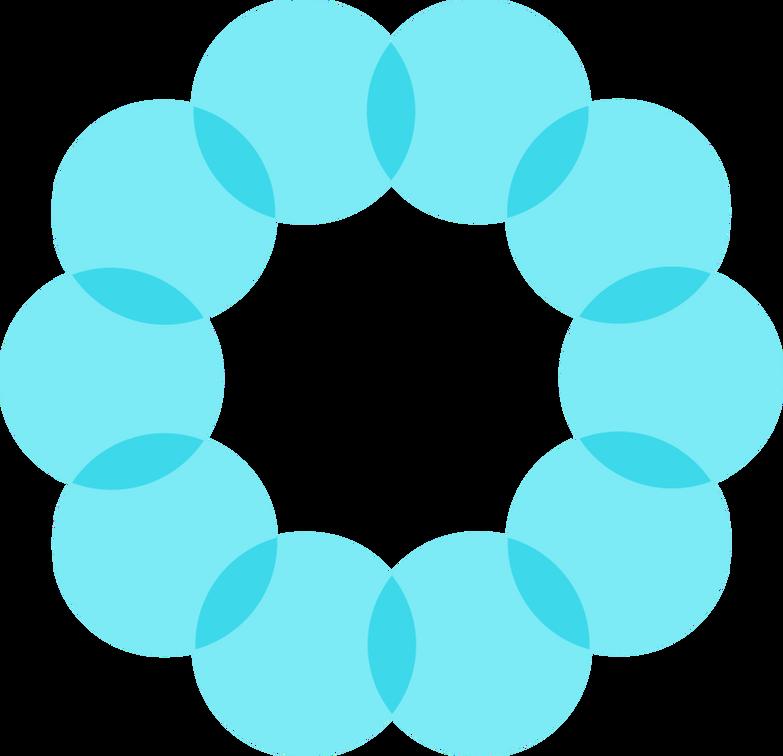 e blue gls euler circles Clipart illustration in PNG, SVG