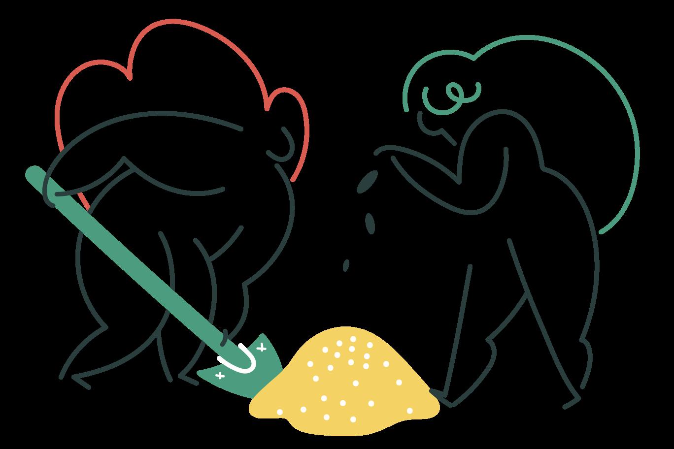 Planting seeds Clipart illustration in PNG, SVG